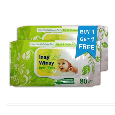 Insy Winsy Baby Wipes (80 Wipes) Buy 1 Get 1