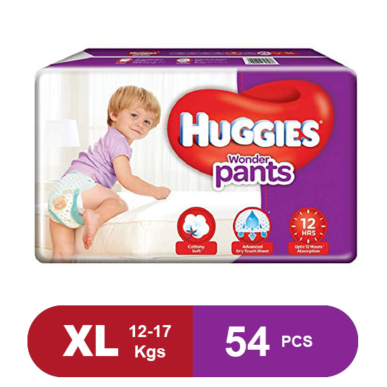 Huggies Wonder Pants Extra Large Diapers (Pack of 54)