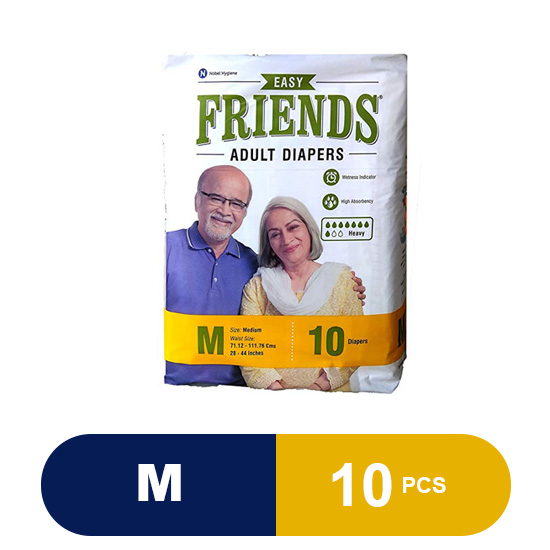 Friends Adult Diaper (Easy) - Medium (10 Pieces)