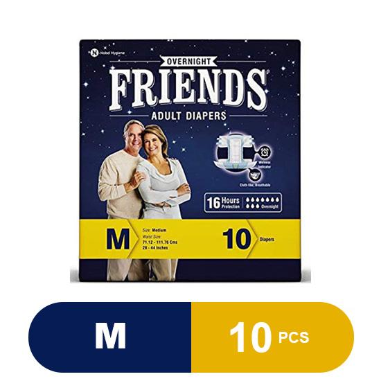 Friends Overnight Adult Medium Diaper (10 Pieces)