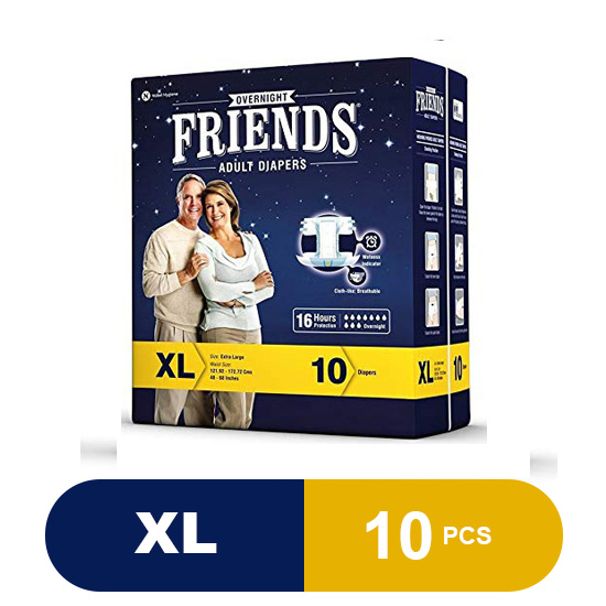 Friends Adult Diapers Overnight (XL)