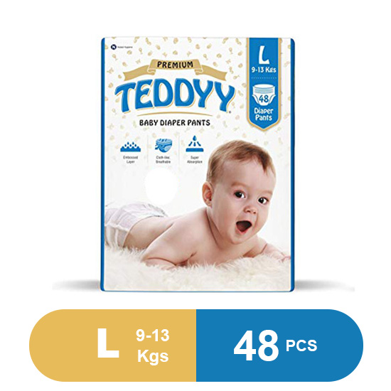 Teddyy Baby Premium Large Diaper Pants (Pack of 48)