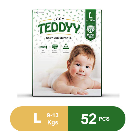 Teddyy Baby Easy Large Diaper Pants (Pack of 52)