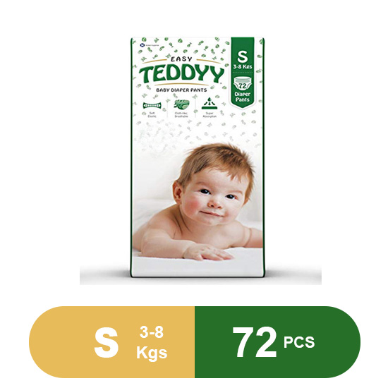 Teddyy Baby Easy Small Diaper Pants (Pack of 72)
