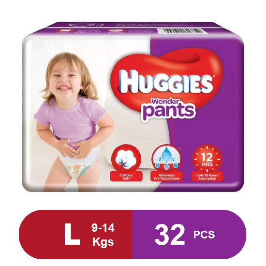 Huggies Wonder Pants Large Diapers (32 Pack)