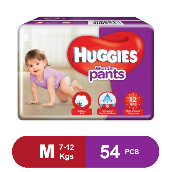 Huggies Wonder Pants Medium Size Diapers( 56 Pcs)