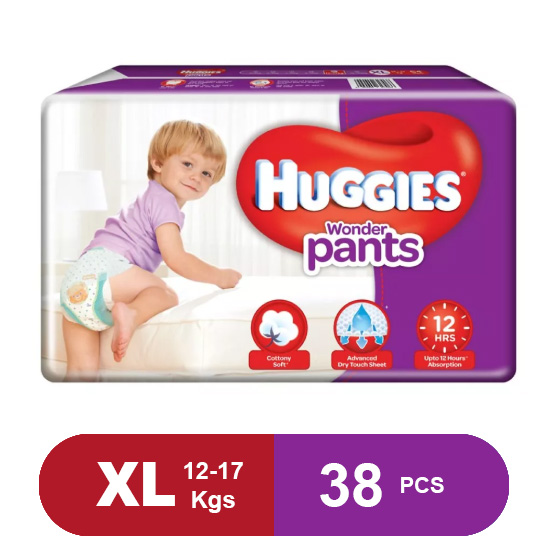Huggies Wonder Pants Extra Large Size Pant Style Diapers (Pack of 38)