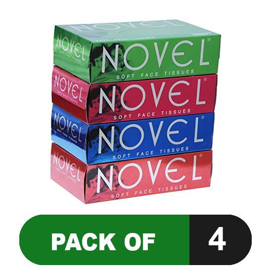 Novel Soft Facial Tissues (Pack of 4)