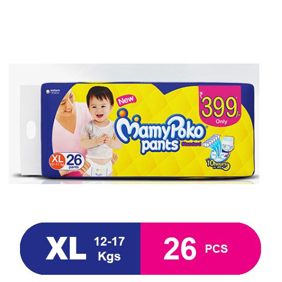 MamyPoko Pants Standard Diapers, Extra Large (26 Pcs)