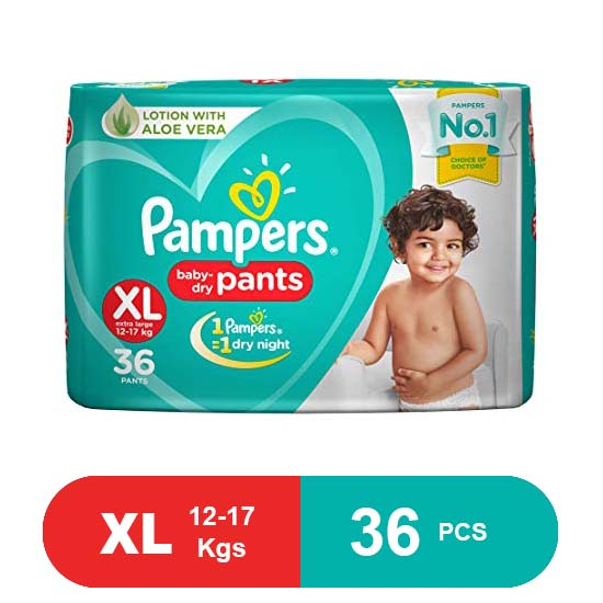 Pampers New Extra Large Size Diapers Pants (36Pcs)