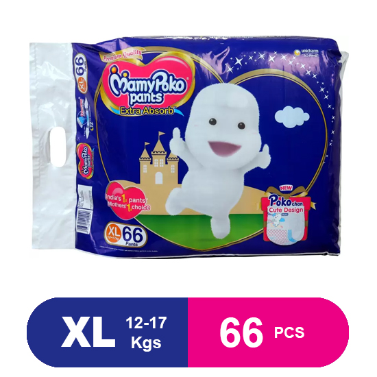 MamyPoko Pants New Diaper Pants Extra Absorb XL 66