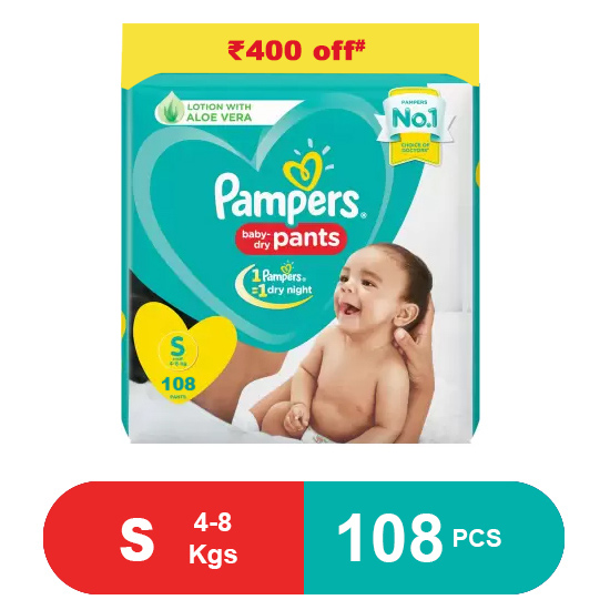 Pampers Baby Pants Dry Pants Small - 108