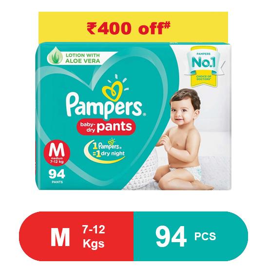 Pampers Baby Pants Dry Pants Medium- 94