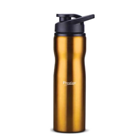 Prestige Stainless Steel Sports Water Bottle (750ml) - Yellow Color