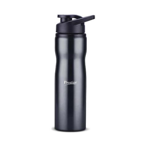 Prestige Stainless Steel Sports Water Bottle (750ml) - Black Color