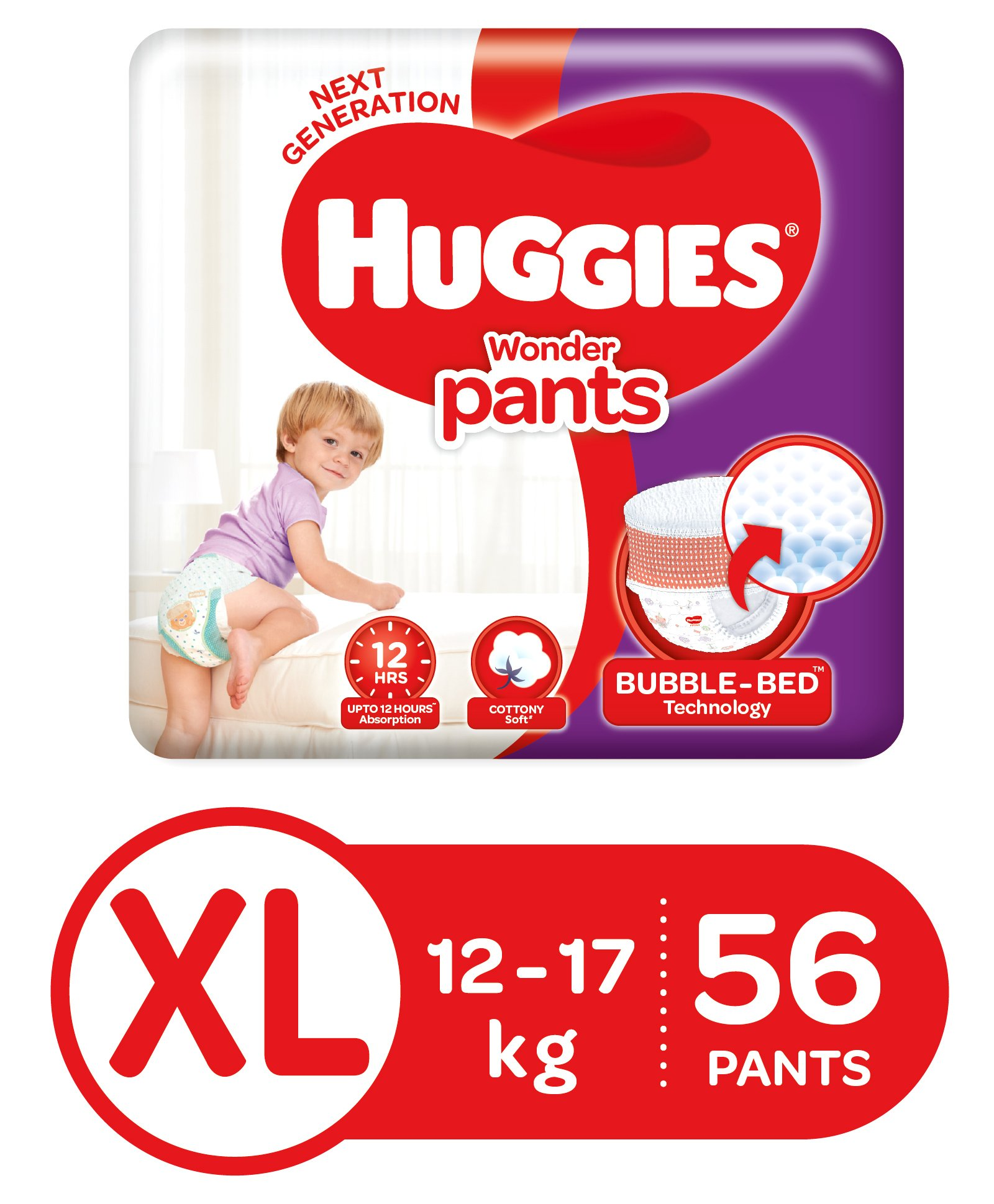 Huggies Wonder Pants, Extra Large (XL) Diapers (56 Count)