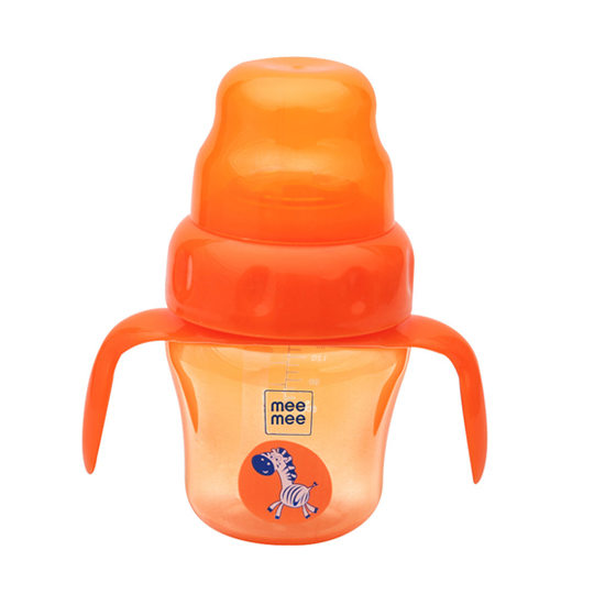 Mee Mee 2 in 1 Spout and Straw Sipper Cup (Orange)