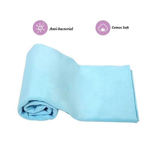 Mee Mee Baby Waterproof Bed Protector Total Dry Sheets – (Blue)