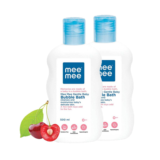 Mee Mee Gentle Baby Bubble Bath (with Cherry Extracts- 500 ml) Pack of 2