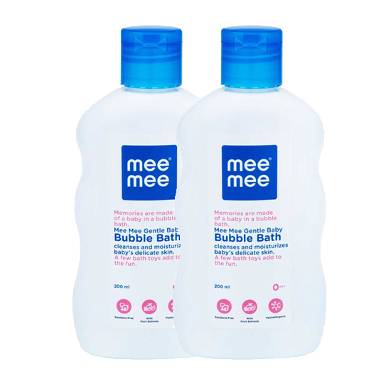 Mee Mee Gentle Baby Bubble Bath, White, 200ml (Pack of 2)