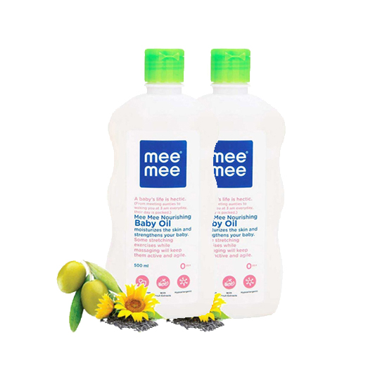Mee Mee Nourishing Baby Oil - 500 ml (Pack of 2)