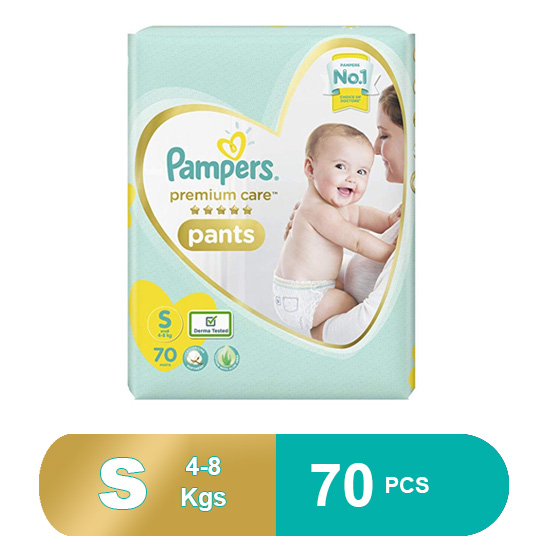 Pampers Premium Care Small Size Diapers (70 Pcs)