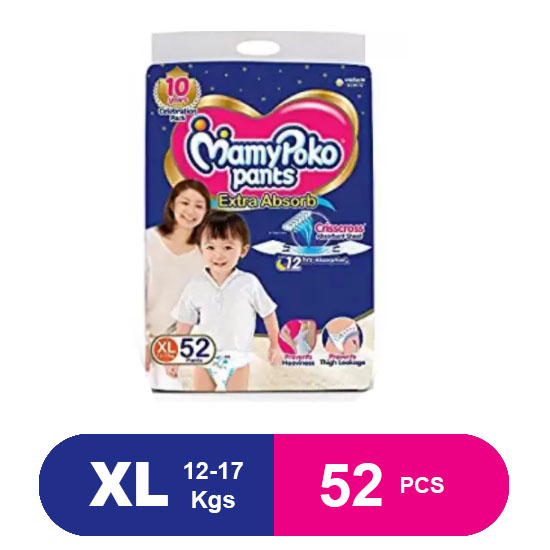 MamyPoko Pants Extra Absorb Diaper XL (52)