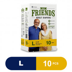 FRIENDS Adult Diaper (Easy) - Large (Pack of 10)