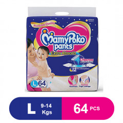MamyPoko Pants Extra Absorb Diaper Large (Pack of 64)