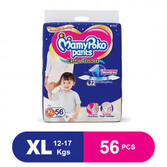 MamyPoko Pants Extra Absorb Diaper XL (Pack of 56)