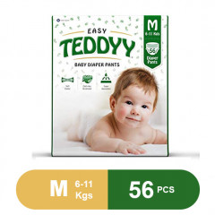 Teddyy Baby Easy Medium Diaper Pants (Pack of 56)