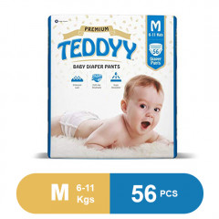 Teddyy Baby Premium Medium Diaper Pants (Pack of 56)