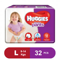Huggies Wonder Pants Large Diapers (32 Pack)