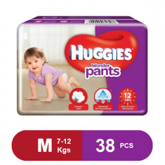Huggies Wonder Pants Medium Size Diapers (Pack of 38)