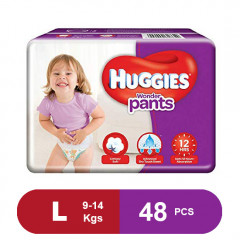 Huggies Wonder Pants Large Diapers (Pack of 48)