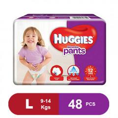 Huggies Wonder Pants Large Diapers (Pack of 48)