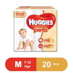 Huggies Ultra Soft Pants Medium Size Premium Diapers (Pack of 20)