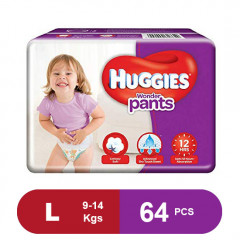 Huggies Wonder Pants Large Size Diapers (Pack of 64)