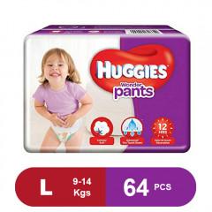 Huggies Wonder Pants Large Size Diapers (Pack of 64)