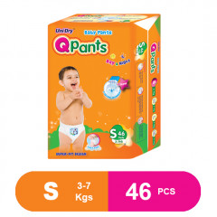 Q Pants Super Fit Baby Diapers Small 46 pcs