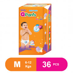 Q Pants Super Fit Baby Diapers Medium 36 pcs