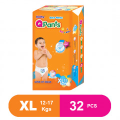 Q Pants Super Fit Baby Diapers Extra Large 32 pcs