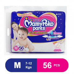 MamyPoko Pants Extra Absorb Diapers, Medium (56 Pcs)