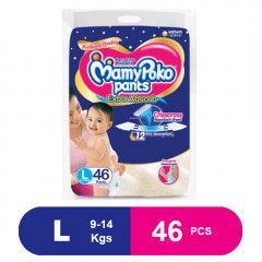 MamyPoko Pants Extra Absorb Diapers, Large (46 Pcs)
