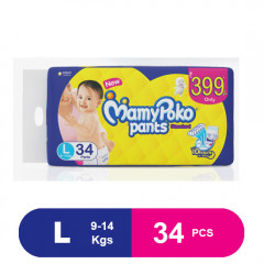 MamyPoko Pants Standard Diapers, Large (34 Pcs)