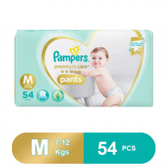 Pampers Premium Care Medium Size Pants Diapers (54 Pcs)