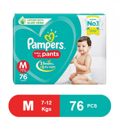 Pampers Baby Dry Pants Medium Diaper (Pack of 76)