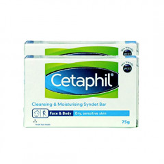 Cetaphil Cleansing And Moisturising Syndet Bar, 75g (Pack of 2)