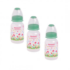 Morisons Baby Dreams Feeding Bottle With Spoon - 125 ml (Color May Vary) Pack of 3