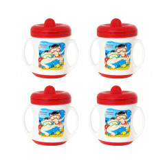 Morison Poochie Feeding Cup - Red (Pack of 4)